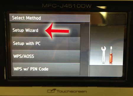 touch the setup wizard option