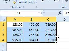 how to change the place of a decimal in excel