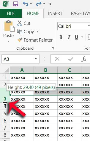 how to expand a row in excel 2013