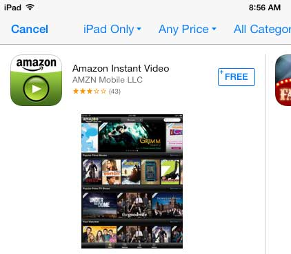 download and install the amazon instant app