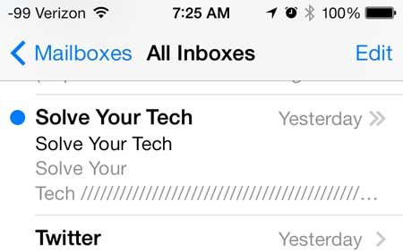 how to forward an email on the iPhone