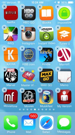 how to move an app on the iPhone