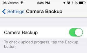 how to automatically upload pictures to skydrive from the iphone
