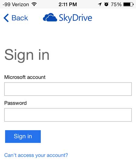 enter your microsoft account email address and password