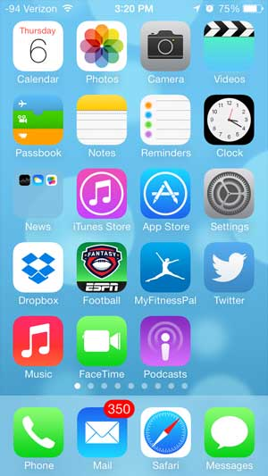 an iPhone home screen