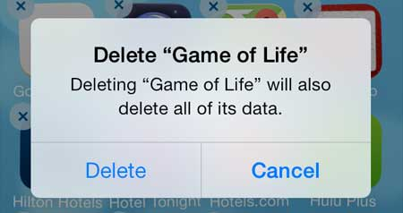 deleting items on the iphone 5 in ios 7
