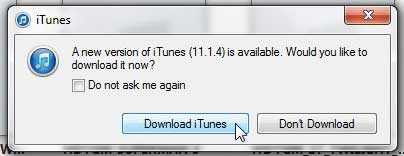 how to check for iTunes updates in windows