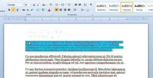 select the text containing the formatting that you want to copy