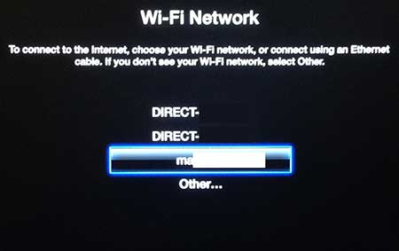 select the network