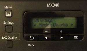 how to connect the canon mx340 to a wireless network