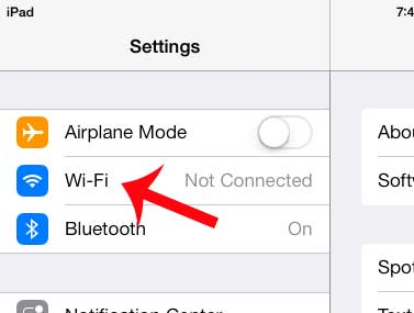 how to connect to a wireless network on the iPad