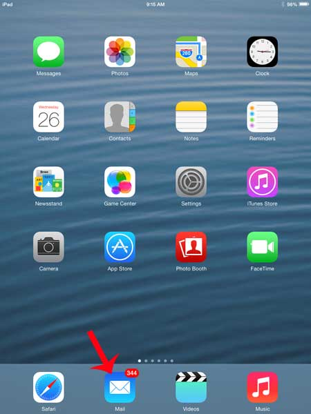 how to mark all emails as read on the ipad