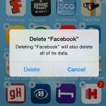 how to delete the facebook iphone app