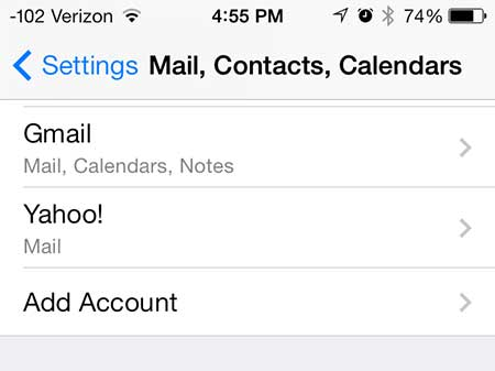 delete gmail calendar on iphone