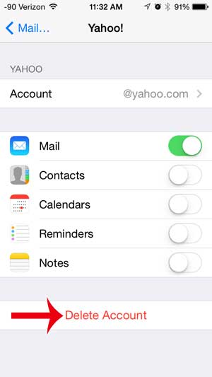 How to Delete a Yahoo Email Account on the iPhone - Solve Your Tech