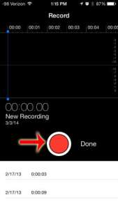 how to record audio on the iphone 5