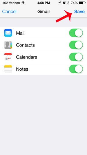 how to add gmail on an iphone 5