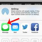 how to share a web page link on the iphone 5