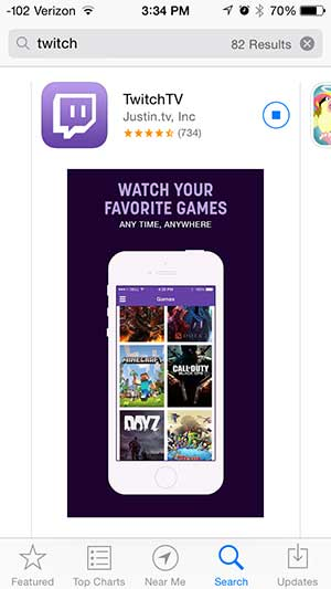 install the twitch app