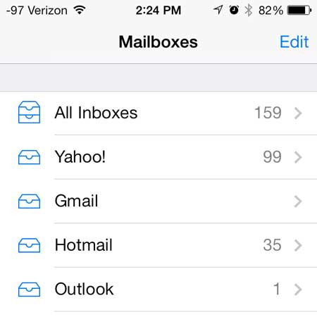 select your desired account inbox