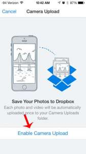 how to upload your iphone pictures to dropbox