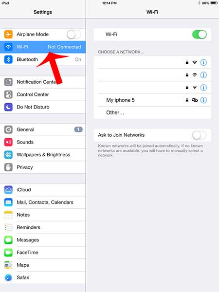 how to share internet from iphone to ipad