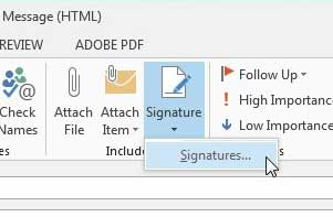 how to make a signature in outlook 2013