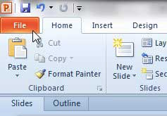 how to print in black and white in powerpoint 2010