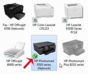 how to set the default printer in windows 7