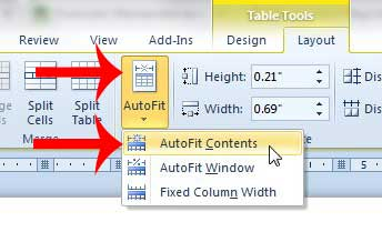 how to fit a large table on one page in word 2010