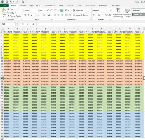 the final, sorted spreadsheet