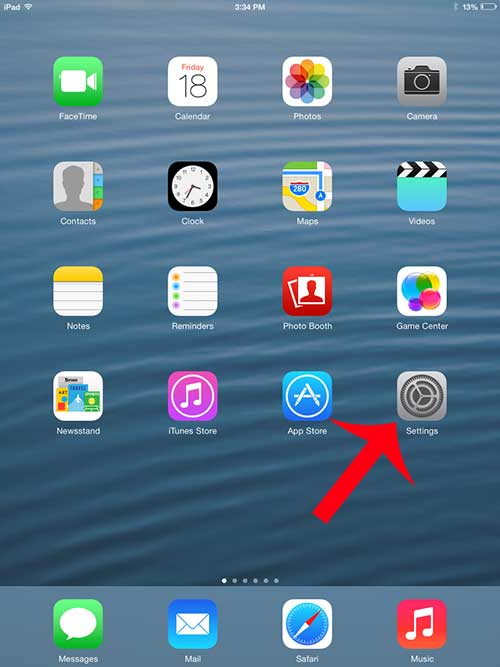 select the icon to put in the dock