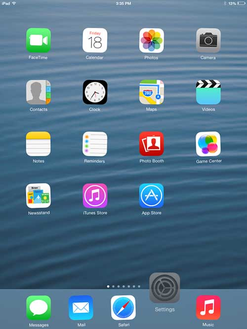 how to move app icons to the dock at the bottom of the ipad screen