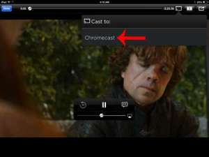 how to watch hbo go on the chromecast with an ipad
