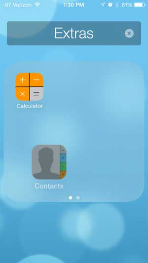 how to put a contacts icon on the iphone home screen