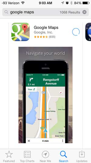 download and install the google maps app