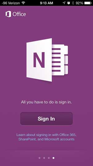 how to use onenote on the iphone 5