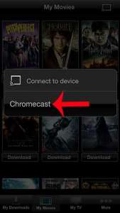 how to watch vudu on the chromecast with an iphone