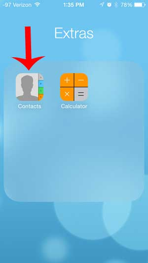 how to get a contacts icon on the iphone 5
