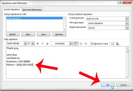 How To Add A Phone Number To A Signature In Outlook 2013 Solve