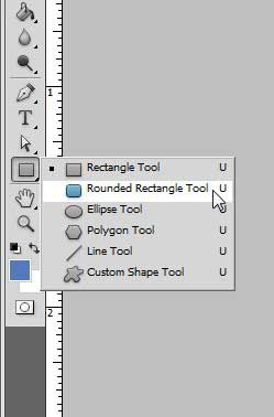 select the rounded rectangle tool