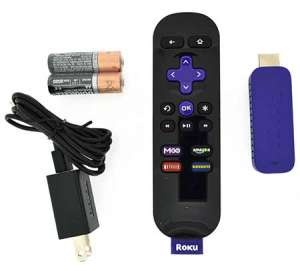 contents of roku streaming stick box