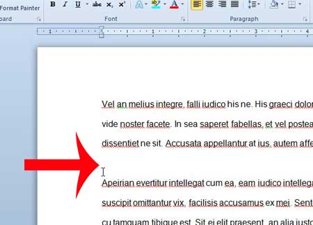 click where you want to paste the text in your document