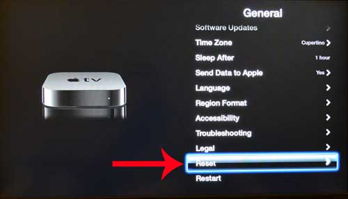 how to restore the apple tv to factory settings