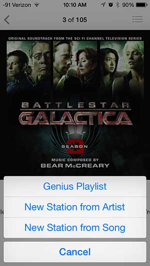 how to create an iTunes Radio station from a song on your iPhone