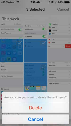 how to delete a picture from the iphone dropbox app