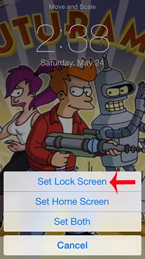 how to put a picture on the lock screen on the iphone 5 in ios 7