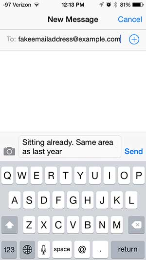 how to send a text message as an email on the iphone