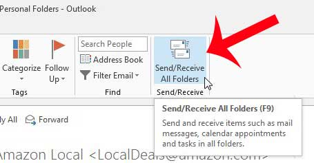 how to check for new email in outlook 2013