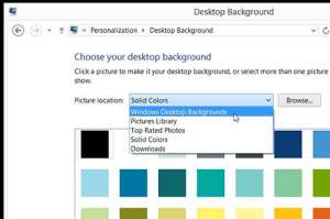 how to change the windows 8 desktop background